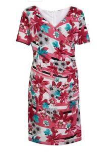 Gerry Weber Kleid elegant Sommerkleid Gr. 48 pink Raffung ...