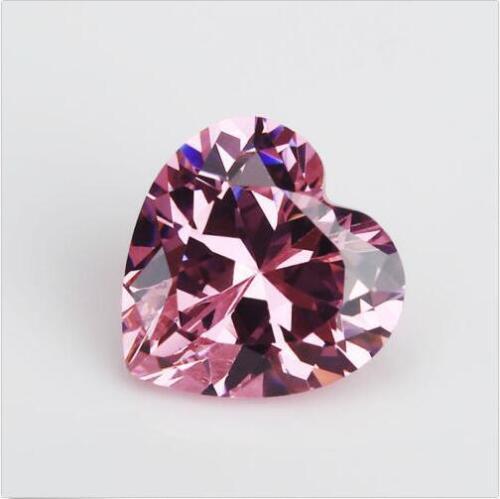 Pink Zircon 3.24ct 8x8mm Heart Faceted Cut Shape AAAAA VVS Loose Gemstone