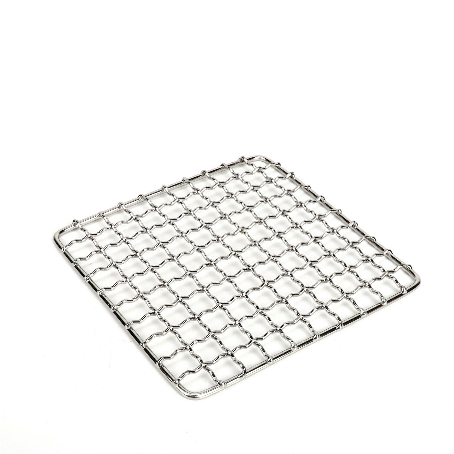 Barbecue Wire Mesh Stainless Steel Grid Square BBQ Rack Outdoor BBQ Net Grill