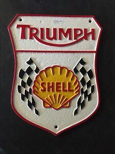 cast iron SIgn Triumph Shell