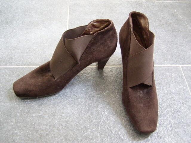 Wunderschöne Ankle Leder Stiefel Peter Kaiser braun Leder Ankle Gr. 4,5/ 37,5 NEU  2d322b