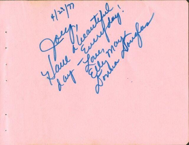 DONNA DOUGLAS Autograph - Beverly Hillbillies