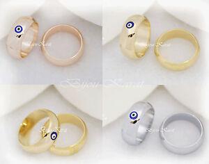 Goldring ehering  Nazar Evil Eye Ring Verlobungsring Goldring Ehering Gold Silber ...