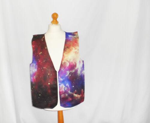 Funny Novelty Waistcoat Galaxy Design Fun Fancy Dress Gift Idea Party Festival