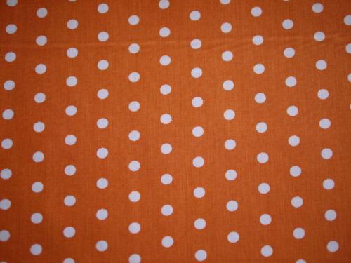 trozos de metal puntos tela Hilde Hilco algodón diseño de lunares naranja-blanco