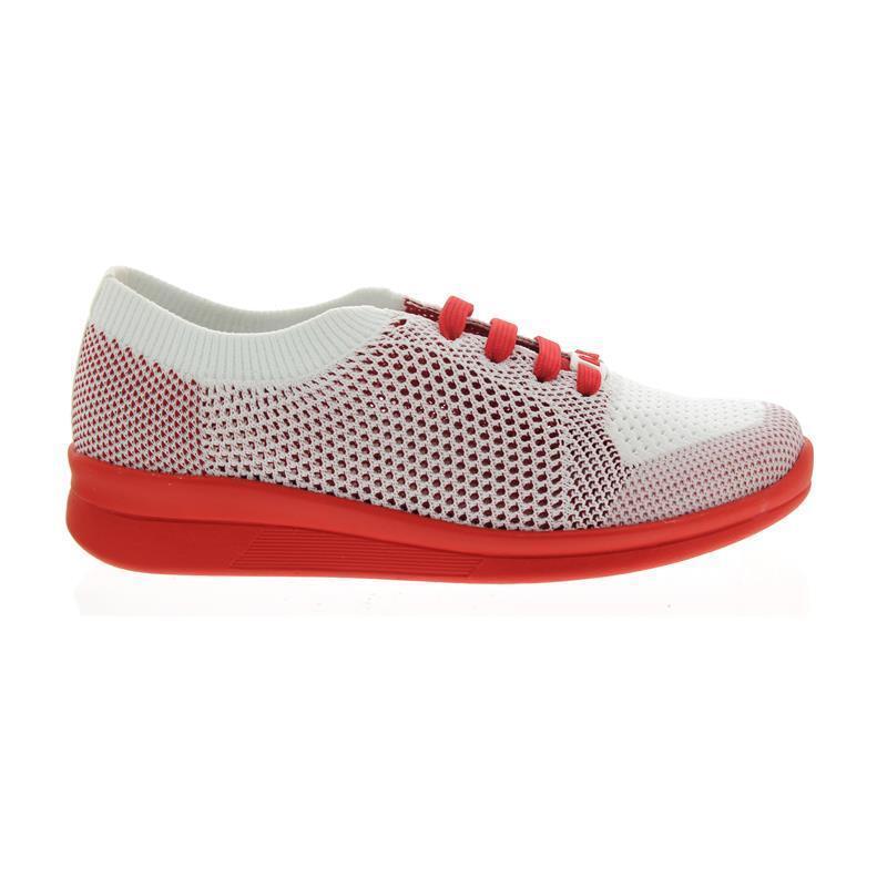 Berkemann EILA, blanco-rojo Knit (Knitted), loafer, Gauge G-I 5152-167
