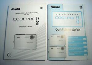 Nikon Guide/Manual in English for Nikon Coolpix Camera S7, S8. —M20