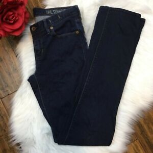 Madewell-Women-039-s-Dark-Wash-Rail-Straight-Denim-Blue-Jeans-Pants-Size-28-x-34
