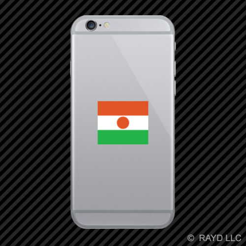 Nigerien Flag Cell Phone Sticker Mobile Niger NER NE