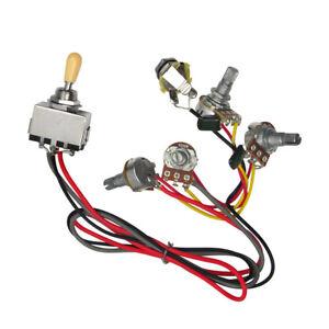 guitar wiring curcuit 3 way toggle switch 2v 2t 500k pots jack for lp guitar 799928712491 ebay. Black Bedroom Furniture Sets. Home Design Ideas