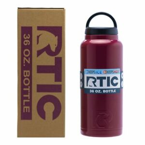 RTIC-36oz-Bottle-Double-Wall-Vacuum-Insulated-Stainless-2019-Camo-Maroon-Teal