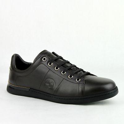 New Gucci Women's Dark Brown Sneakers w/Interlocking G Indent 329841 2012