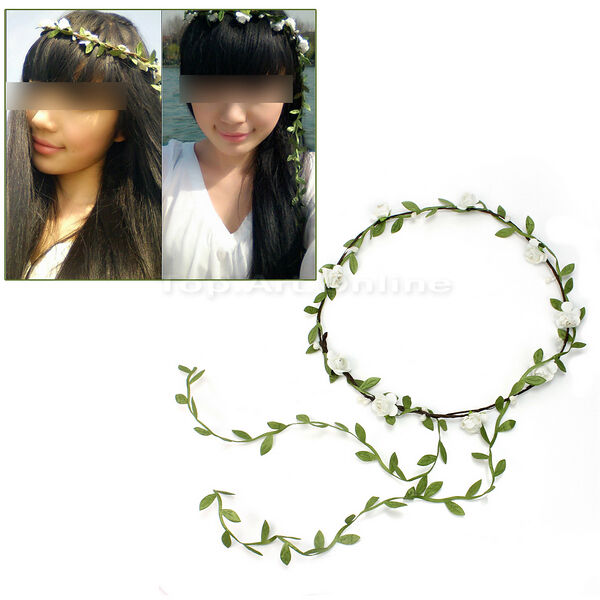 New Beautiful Bohemian Festival Wedding Bride Headdress Flower Garland Headbands