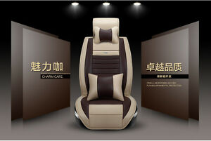9pcs-Car-Seat-Covers-Universal-For-All-Cars-Vehicle-5-Seats-New-Set-PU-Leather