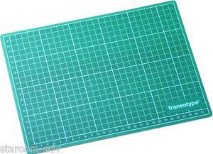 transotype Schneidematte DIN A4 Unterlage Schneidmatte Bastel-Matte Cutting Mat
