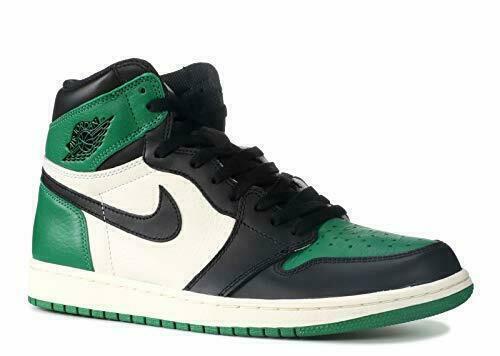 Nike Air Jordan 1 Retro Shoes for Men, Size 10.5 - Pine Green/Black-Sail