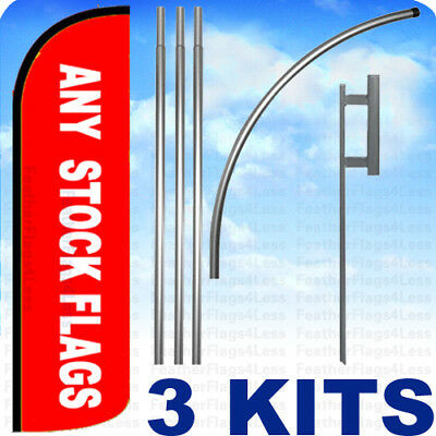 CASH FOR GOLD yel//blk 15 WINDLESS SWOOPER FLAGS KIT two 2