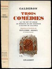 Théatre XVII°-Pedro Calderon de la Barca : TROIS COMEDIES, 1955