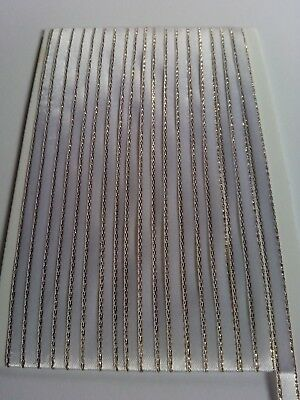5M 6mm Thin White Gold Edged Satin Ribbon Trim Card Making Scrapbooking Home Art