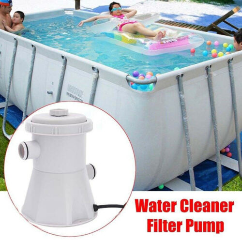 US PLUG Electric Swimming Pool Filter Pump Water Cleaning Tool Above GroundPool!