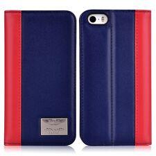 Aston Martin Racing TD Series iPhone 5/5s/SE Leather Folio Case (Deep Blue+Red)