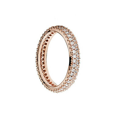GENUINE PANDORA ROSE Classic Band Ring 180909CZ FREE DELIVERY