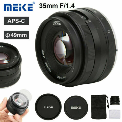 Meike 35mm F1.4 APS-C Focus Lens Portrait Large Aperture for Canon EOS-M EF-M