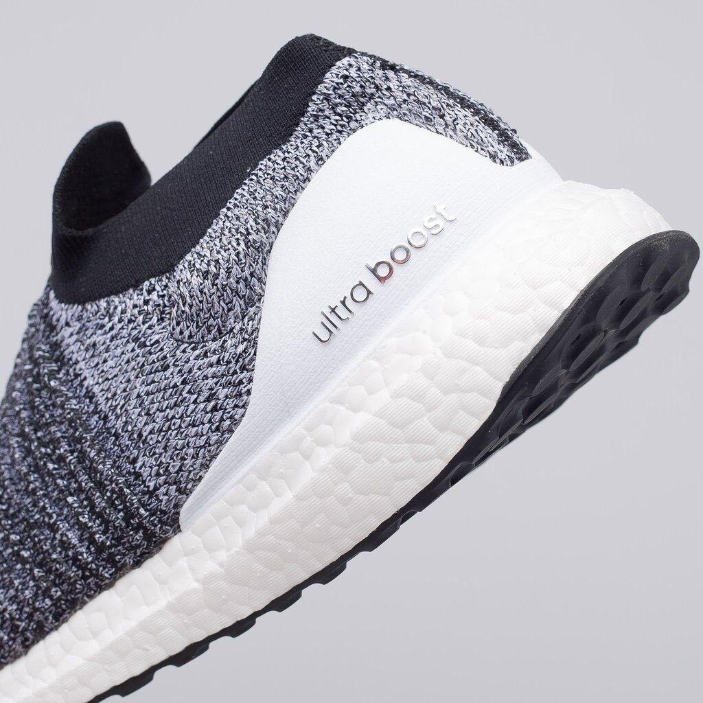 Adidas Ultra Boost Laceless PK OREO Core Black White Heather Grey BB6141 Mens 13