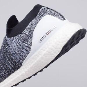49f85e9c180 Adidas Ultra Boost Laceless PK OREO Core Black White Heather Grey ...
