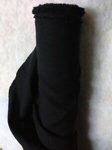 Tissu-au-metre-BURLINGTON-noir-infroissable-ameublement-habillement-large-150