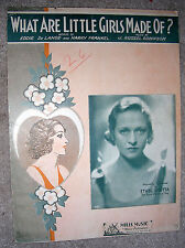 1933 WHAT ARE LITTLE GIRLS MADE OF? Vintage Sheet Music ETHEL SHUTTA by Robinson