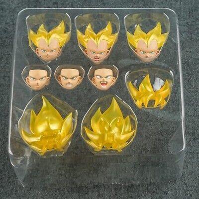 Demoniacal Fit SS Blue Custom headsculpt Set for SHF Goku Vegeta