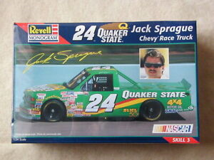 Details about FACTORY SEALED Revell #24 Quaker State Jack Sprague Chevy  Race Truck #85-2499