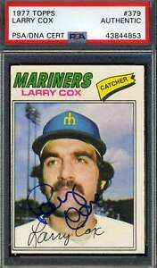 Larry Cox PSA DNA Coa Autograph 1977 Topps Hand Signed