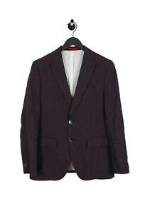 Gant-Blazer-Formal-Blanco-y-Negro-Rayas-Hombre-Chaqueta-de-Lino-EU48-UK38-Talla