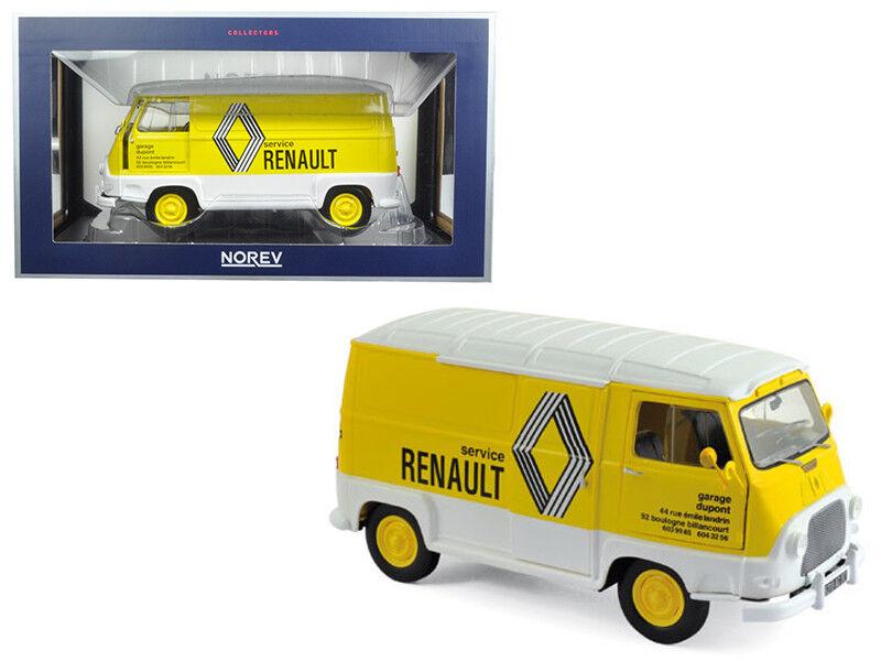 1 18 Norev 1972 Renault Estafette Assistance Renault Diecast blanc  jaune 185168  marque de luxe