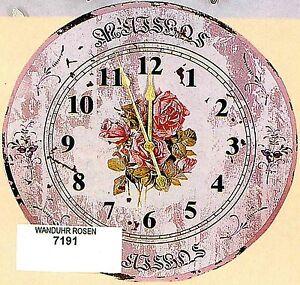 Hoff interieur 7191 wanduhr rosen landhaus shabby chic for Hoff interieur de