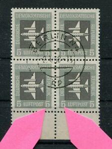 DDR-Nr-609-PF-I-II-gest-Flugpost-im-4er-Block