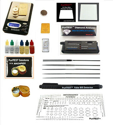 Micro Jewelry Diamond Tester Diamonds Simulation LED Light Travel Size Tool Kits