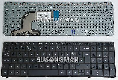 UK Layout Keyboard with Frame for HP 15-n270sa 15-n270ea 15-n268sa 15-n266sa