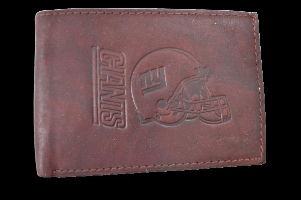 NFL New York Giants Mens Leather Wallet Billfold New