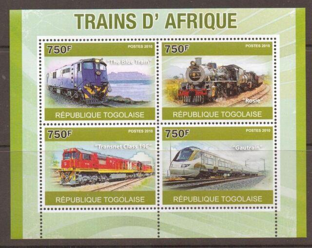 TOGO 2010 AFRICAN TRAINS S/SHEET MNH