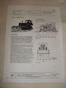 Rda Publicité Publicité Prospectus Feuille De Données Bouteur Kt 50 Veb Brandebourg 1968-afficher Le Titre D'origine