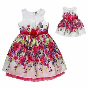 Girl-4-12-and-Doll-Matching-Fancy-Floral-Easter-Summer-Party-Dress-American-Girl