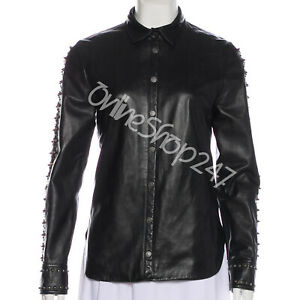 3086850d8 New Mens Unique Style Full Multi Silver Gold Studded Sleeves Biker ...