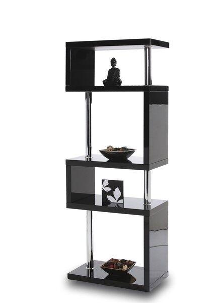 Designer Tall Square Gloss Black Shelving Storage Unit Office Living Room For Online Ebay