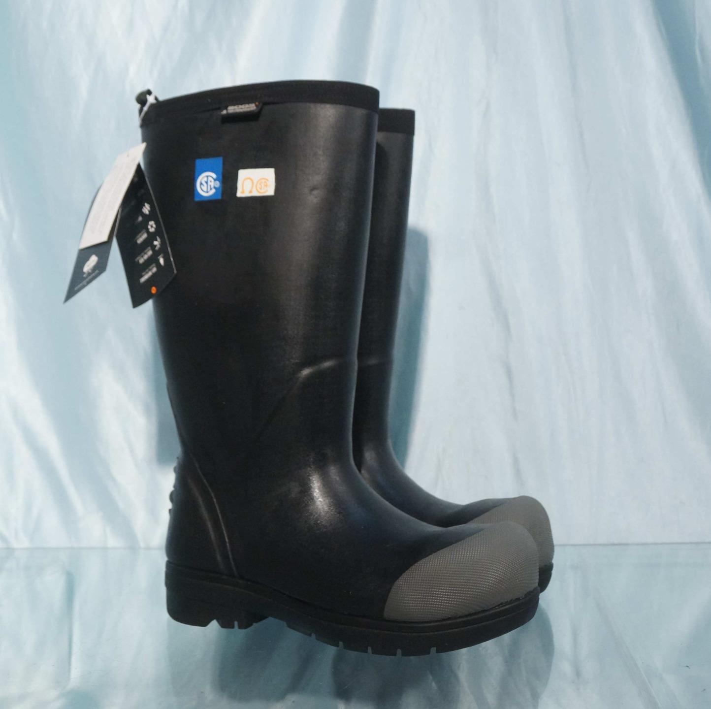 NWOB Black BOGS FOOD PRO ST Insulated Waterproof Steel Toe Dairy Muck Boots Sz 5