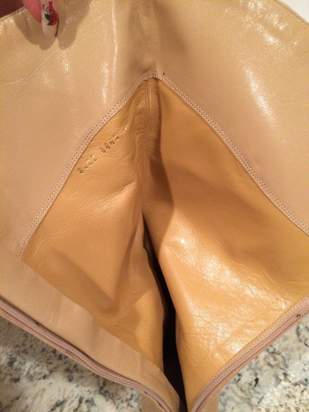 Sergio Rossi Zip Mid Calf Stiefel Suede Zip Rossi Heel Pointy Toe Beige 36/ 6  Nice 226759