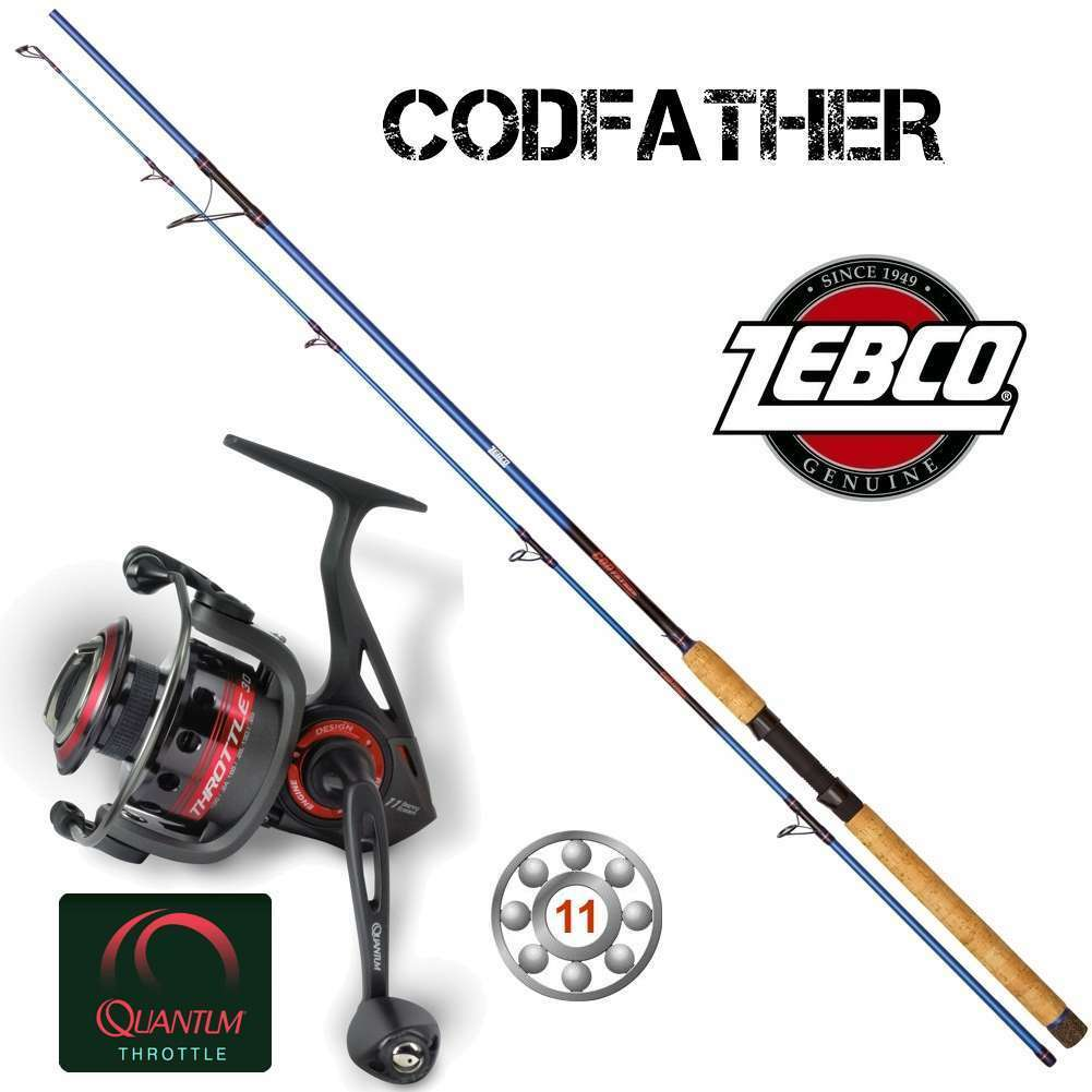 Top Top Top Pilk SET    ZEBCO Codfather 3,05m + Quantum THROTTLE TH50 f4abc4