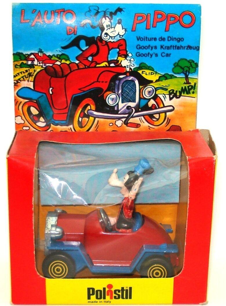 POLISTIL NO. W5 W5 W5 L'AUTO DI PIPPO - GOOFY'S CAR - MINT BOXED - OLD SHOP STOCK  479